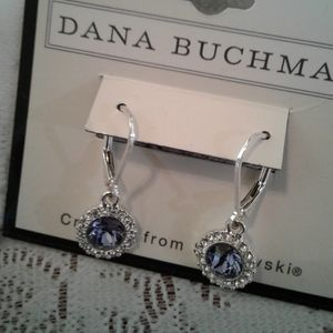 🌺NWT D Buchman Silver/Swarovski Crystal Earrings